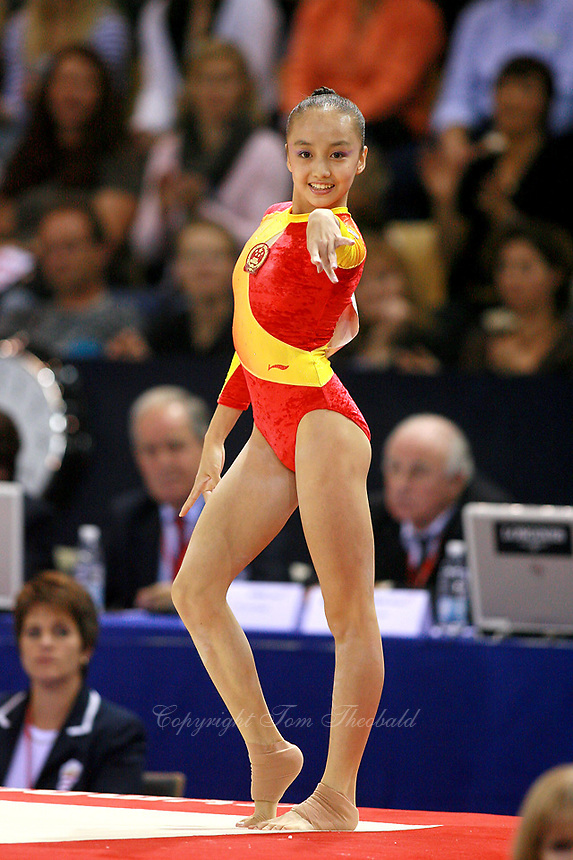Oct 19 2006 Aarhus Denmark Panpan Pang Of China Performs On Floor