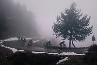 breakaway group in the mist<br /> <br /> 76th Paris-Nice 2018<br /> Stage 7: Nice &gt; Valdeblore La Colmiane (175km)