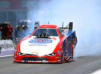 Apr 23, 2017; Baytown, TX, USA; NHRA funny car driver Robert Hight during the Springnationals at Royal Purple Raceway. Mandatory Credit: Mark J. Rebilas-USA TODAY Sports