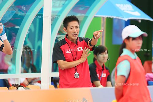 Yu Seung-Jin (JPN), <br /> SEPTEMBER 26, 2014 - Hockey : <br /> Women's Preliminary <br /> between Kazakhstan Women's 0-8 Japan Women's <br /> at Seonhak Hockey Stadium <br /> during the 2014 Incheon Asian Games in Incheon, South Korea. <br /> (Photo by YUTAKA/AFLO SPORT)