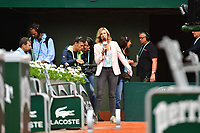 French tv journalist Clementine Sarlat during Day 11 of the French Open 2018 on June 6, 2018 in Paris, France. (Photo by Dave Winter/Icon Sport)