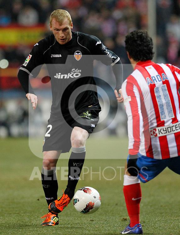 Madrid (05/02/2012) LIGA BBVA.Atletico de Madrid- Valencia C.F...MATHIEU.....
