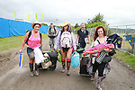 Gang from Santry arriving at the campsite on Day 1 of the Oxegen Festival, Punchestown, Co.Kildare...(Photo credit should read Jenny Matthews www.newsfile.ie)....This Picture has been sent you under the conditions enclosed by:.Newsfile Ltd..The Studio,.Millmount Abbey,.Drogheda,.Co Meath..Ireland..Tel: +353(0)41-9871240.Fax: +353(0)41-9871260.GSM: +353(0)86-2500958.email: pictures@newsfile.ie.www.newsfile.ie.