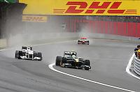 F1 GP of Brazil, Sao Paulo - Interlagos 05.- 07. Nov. 2010.Heikki Kovalainen (FIN), Lotus F1 Racing - Kamui Kobayashi (JPN), Sauber F1 Team ..Hasan Bratic;.Picture: Hasan Bratic/Universal News And Sport (Europe) 6 November 2010.