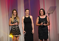 Heather Mitts, Lindsay Tarpley, Shannon Macmillan. US Soccer held their Centennial Gala at the National Building Museum in Washington DC.
