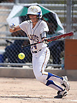 Western Nevada College's Madi Gonzalez bats against the College of Southern Nevada on Friday, May 2, 2014, in Carson City, Nev.<br /> Photo by Cathleen Allison/Nevada Photo Source