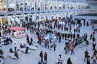 NEW YORK, USA - September 12 : A general view of the silent protest on September 12, 2019 in New York, USA.<br /> Demonstrators joinedfor a silent protest againist ICE, child immigrant detention, and torture of asylum seekers at the Oculus in New York City. <br /> (Photo by Luis Boza/VIEWpress/Corbis via Getty Images).