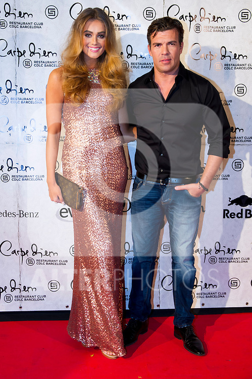 Swedish model Nicoline Artursson (left) and Roman Fortunato (right) attend the 10th anniversary celebration 'CDLC Carpe Diem: 10 years, the birthday' of CDLC Carpe Diem Lounge Club on November 8, 2013 in Barcelona, Spain. (ALTERPHOTOS/Alex Caparros)