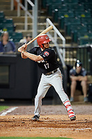Chattanooga Lookouts designated hitter Travis Harrison (17) at bat during a game against the Jackson Generals on April 27, 2017 at The Ballpark at Jackson in Jackson, Tennessee.  Chattanooga defeated Jackson 5-4.  (Mike Janes/Four Seam Images)