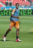 July 28, 2012: Houston Dynamo midfielder Boniek Garcia #27 in action during the warm-up game between Toronto FC and the Houston Dynamo at BMO Field in Toronto, Ontario Canada..The Houston Dynamo won 2-0.
