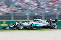 March 20, 2016: Nico Rosberg (DEU) #6 from the Mercedes AMG Petronas team at turn two of the 2016 Australian Formula One Grand Prix at Albert Park, Melbourne, Australia. Photo Sydney Low
