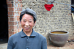 Asia, China, Yichang. Rural Chinese farmer wife.