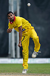 Nadeem Ahmed of City Kaitak bowls during the DTC Hong Kong T20 Blitz match between HKI United vs City Kaitak on 12 March 2017, in Tin Kwong Road Recreation Ground, Hong Kong, China. Photo by Chris Wong / Power Sport Images