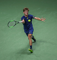 Februari 19, 2017, Netherlands, Rotterdam, Ahoy, ABNAMROWTT, David Goffin (BEL)<br /> Photo: Tennisimages/Henk Koster