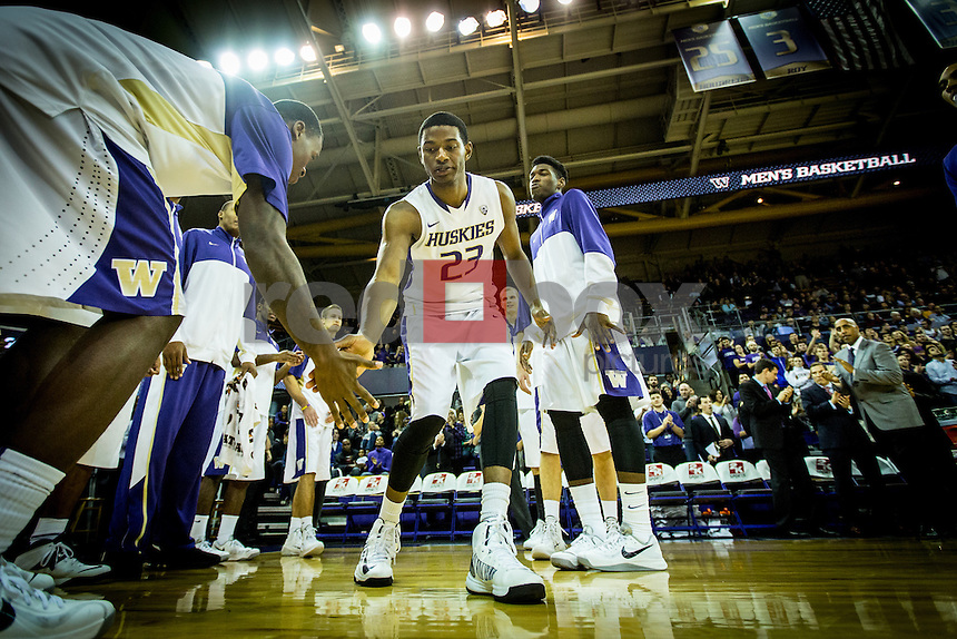 SEATTLE, WA - NOVEMBER 14:  University of Washington Huskies men's basketball team plays UC Irvine on November 14, 2013 at Alaska Airlines Arena in Seattle, Washington.  (Photo by Scott Eklund/Red Box Pictures)