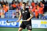 The Hague, Netherlands, June 01: Marcus Child #13 of New Zealand looks on during the field hockey group match (Men - Group B) between the Black Sticks of New Zealand and Korea on June 1, 2014 during the World Cup 2014 at GreenFields Stadium in The Hague, Netherlands. Final score 2:1 (1:0) (Photo by Dirk Markgraf / www.265-images.com) *** Local caption ***