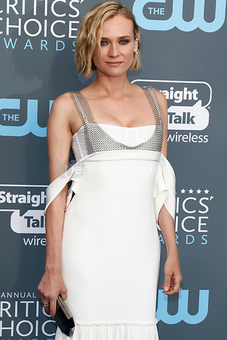 Diane Kruger attends the 23rd Annual Critics' Choice Awards at Barker Hangar in Santa Monica, Los Angeles, USA, on 11 January 2018. Photo: Hubert Boesl - NO WIRE SERVICE - Photo: Hubert Boesl/dpa /MediaPunch ***FOR USA ONLY***
