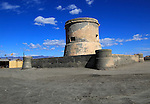 Eighteenth century fortified tower at Cabo de Gata village, Cabo de Gata natural  park,  Nijar, Almeria, Spain