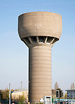 Large concrete water storage tower at Pakefield, Lowestoft, Suffolk, England -unusual in not having any phone aerials or masts