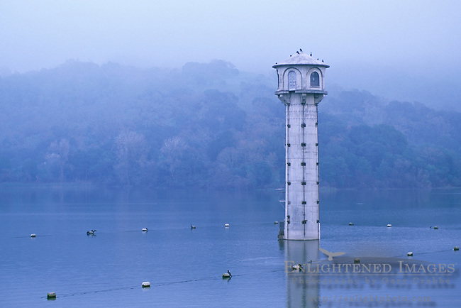 Watershed dam access tower, Lafayette Reservoir, Contra Costa County, CALIFORNIA