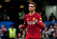 Trent Alexander-Arnold of Liverpool during the Premier League match between Chelsea and Liverpool at Stamford Bridge, London, England on 22 September 2019. Photo by Liam McAvoy / PRiME Media Images.