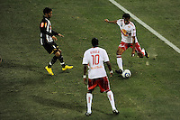 Roy Miller (7) of the New York Red Bulls plays the ball during the second half of a friendly between Santos FC and the New York Red Bulls at Red Bull Arena in Harrison, NJ, on March 20, 2010. The Red Bulls defeated Santos FC 3-1.