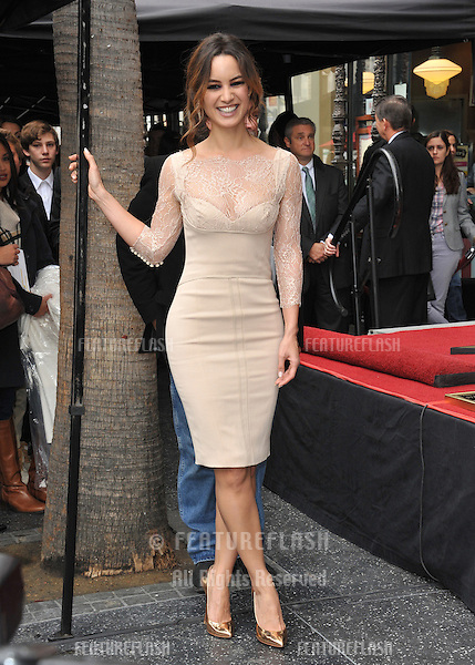 Berenice Marlohe on Hollywood Boulevard where Javier Bardem was honored with the 2,484th star on the Hollywood Walk of Fame..November 8, 2012  Los Angeles, CA.Picture: Paul Smith / Featureflash