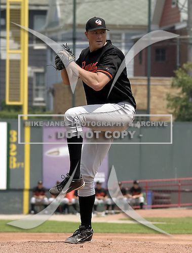 July 29, 2004:  Pitcher Jerry Spradlin of the Bowie BaySox, AA Eastern League affiliate of the Baltimore Orioles, during a game at Jerry Uht Park in Erie, PA.  Photo by:  Mike Janes/Four Seam Images