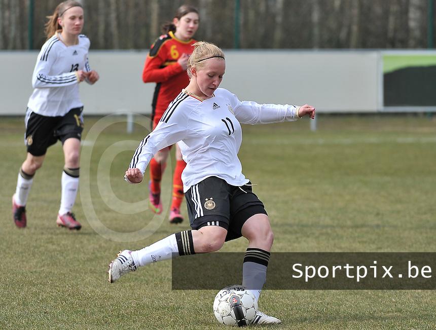 Belgie U17 - Duitsland U17 : Madeline Gier.foto DAVID CATRY / Vrouwenteam.be