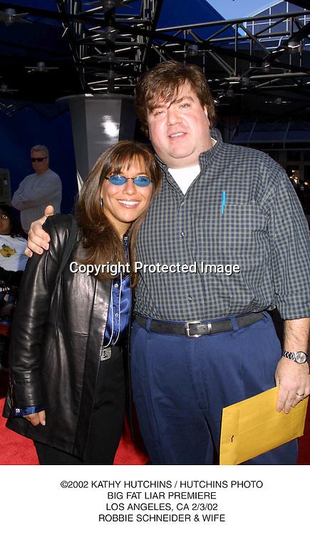 ©2002 KATHY HUTCHINS / HUTCHINS PHOTO.BIG FAT LIAR PREMIERE.LOS ANGELES, CA 2/3/02.ROBBIE SCHNEIDER & WIFE