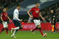 Nemanja Matic of Manchester United and Erik Lamela of Tottenham Hotspur during Tottenham Hotspur vs Manchester United, Premier League Football at Wembley Stadium on 13th January 2019