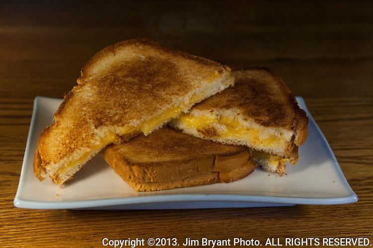 Grilled Cheese Sandwich.  ©2013. Jim Bryant Photo. ALL RIGHTS RESERVED.