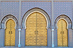 Doors of the Royal Palace in Fès, Morocco.