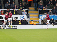 5th January 2020; Pirelli Stadium, Burton Upon Trent, Staffordshire, England; English FA Cup Football, Burton Albion versus Northampton Town; Ryan Watson of Northampton Town celebrates with Nicholas Adams of after scoring in the 23rd minute 0-2 - Strictly Editorial Use Only. No use with unauthorized audio, video, data, fixture lists, club/league logos or 'live' services. Online in-match use limited to 120 images, no video emulation. No use in betting, games or single club/league/player publications