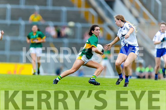 Sarah Houlihan Kerry in action against  Waterford in the TG4 Munster Senior Ladies Football Championship semi-final match between Kerry and Waterford at Fitzgerald Stadium in Killarney on Sunday.
