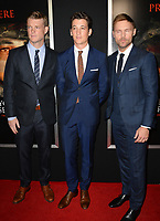 Brad Beyer, Miles Teller &amp; Scott Haze at the premiere for &quot;Thank You For Your Service&quot; at the Regal LA Live Theatre. Los Angeles, USA 23 October  2017<br /> Picture: Paul Smith/Featureflash/SilverHub 0208 004 5359 sales@silverhubmedia.com
