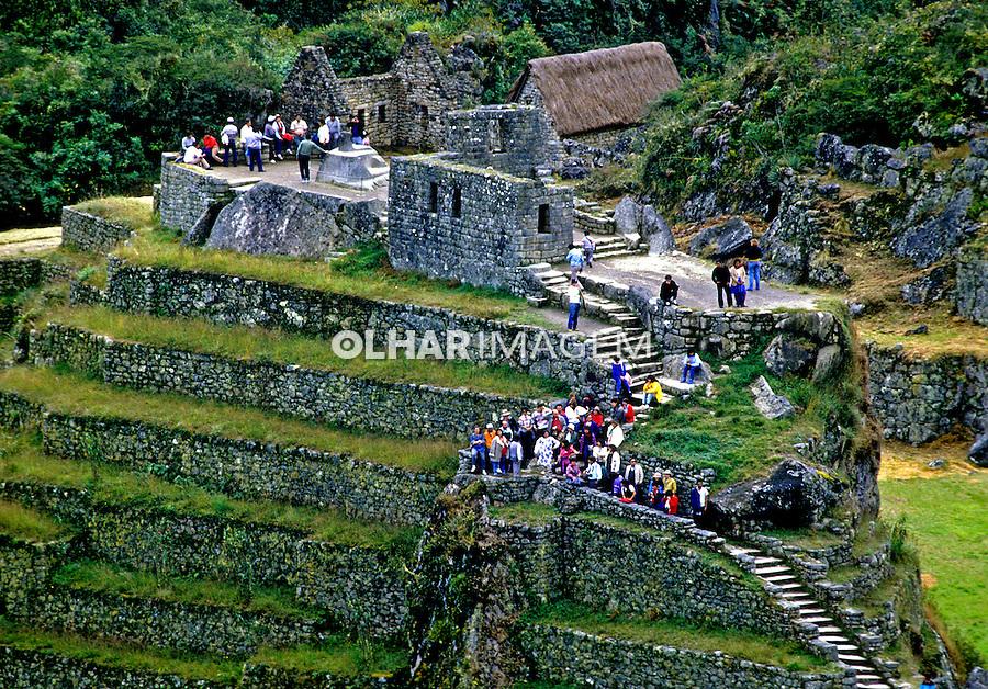 Vista geral da cidade Inca  Machu Pichu. Perú. Foto de Juca Martins. Data: 1994