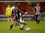 David Brooks of Sheffield Utd turns Maz Kouhyar of Walsall during the Carabao Cup First Round match at Bramall Lane Stadium, Sheffield. Picture date: August 9th 2017. Pic credit should read: Simon Bellis/Sportimage
