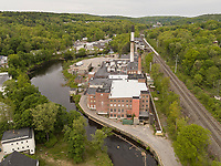 Monksjo mill aerial views, Fitchburg, MA Nashua River