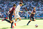 Real Madrid's player Gareth Bale and Eibar FC's player Antonio Luna and Francisco Manuel Rico during a match of La Liga Santander at Santiago Bernabeu Stadium in Madrid. October 02, Spain. 2016. (ALTERPHOTOS/BorjaB.Hojas)