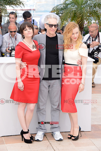 """Emily Hampshire, Robert Pattinson and Sarah Gadon attending the """"Cosmopolis"""" Photocall during the 65th Annual Cannes International Film Festival in Cannes, France, 25.05.2012...Credit: Timm/face to face /MediaPunch Inc. ***FOR USA ONLY***"""