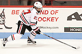 Dalen Hedges (NU - 27) - The visiting Bentley University Falcons defeated the Northeastern University Huskies 3-2 on Friday, October 16, 2015, at Matthews Arena in Boston, Massachusetts.