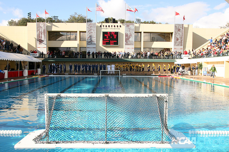 01 DEC 2007:  The University of California-Berkeley takes on the Naval Academy during the Division I Men's Water Polo Semifinals held at the Avery Aquatic Center on the Stanford University campus in Palo Alto, CA.  Cal defeated Navy 8-5 to advance to the national title game.  Jamie Schwaberow/NCAA Photos