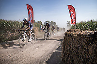 Lasse Norman Hansen (DEN/Alpecin-Fenix) leading the pack over a gravel/off-road section<br /> <br /> Antwerp Port Epic 2020 <br /> One Day Race: Antwerp to Antwerp 183km; of which 28km are cobbles and 35km is gravel/off-road<br /> Bingoal Cycling Cup 2020