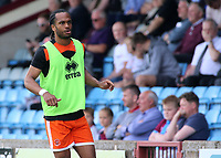 Blackpool's Nathan Delfouneso warms up<br /> <br /> Photographer David Shipman/CameraSport<br /> <br /> The EFL Sky Bet League One - Scunthorpe United v Blackpool - Friday 19th April 2019 - Glanford Park - Scunthorpe<br /> <br /> World Copyright © 2019 CameraSport. All rights reserved. 43 Linden Ave. Countesthorpe. Leicester. England. LE8 5PG - Tel: +44 (0) 116 277 4147 - admin@camerasport.com - www.camerasport.com