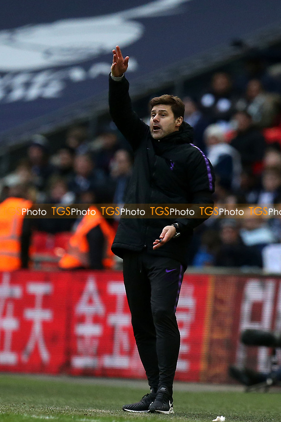 Tottenham Hotspur manager Mauricio Pochettino during Tottenham Hotspur vs Leicester City, Premier League Football at Wembley Stadium on 10th February 2019
