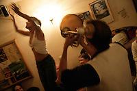 Dancing in a club in Beyoglu, Istanbul, Turkey