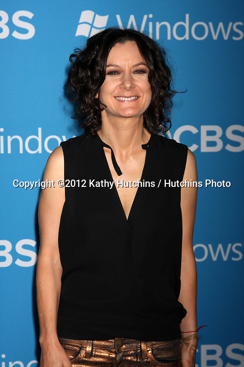 LOS ANGELES - SEP 15:  Sara Gilbert arrives at the CBS 2012 Fall Premiere Party  at Greystone Manor on September 15, 2012 in Los Angeles, CA