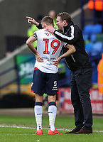 Bolton Wanderers' Phil Parkinson issues instructions to Bolton Wanderers' Gary O'Neil   <br /> <br /> Photographer Andrew Kearns/CameraSport<br /> <br /> The EFL Sky Bet Championship - Bolton Wanderers v Preston North End - Saturday 9th February 2019 - University of Bolton Stadium - Bolton<br /> <br /> World Copyright © 2019 CameraSport. All rights reserved. 43 Linden Ave. Countesthorpe. Leicester. England. LE8 5PG - Tel: +44 (0) 116 277 4147 - admin@camerasport.com - www.camerasport.com