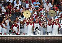 NWA Democrat-Gazette/CHARLIE KAIJO Arkansas Razorbacks marching band performs during the first half of a football game, Saturday, September 7, 2019 at Vaught-Hemingway Stadium in Oxford, Miss.